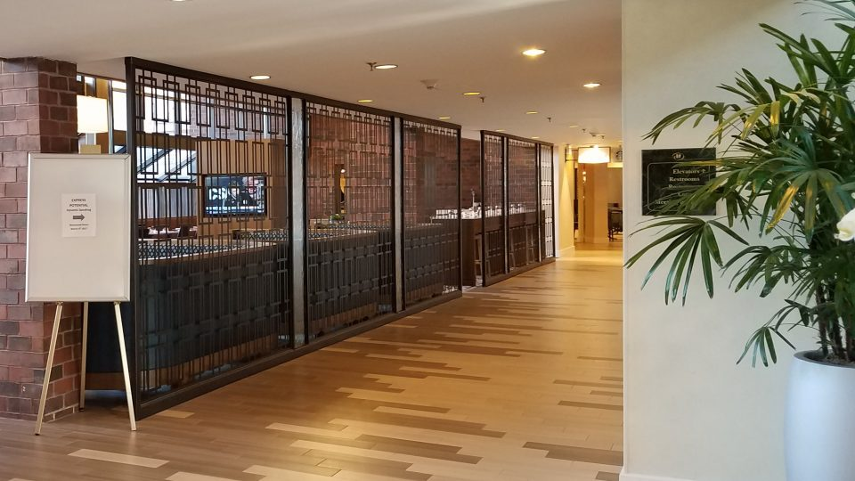 Tableaux Decorative Grilles in the Hilton Hotel Dedham Lobby