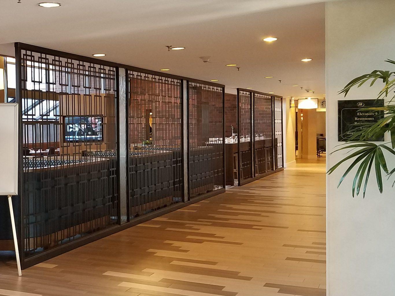 Tableaux Decorative Grilles in the Hilton Hotel Dedham Lobby Café