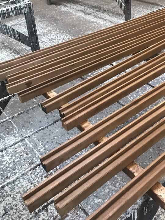 Tableaux U-Channel Wood Framing Work In Process